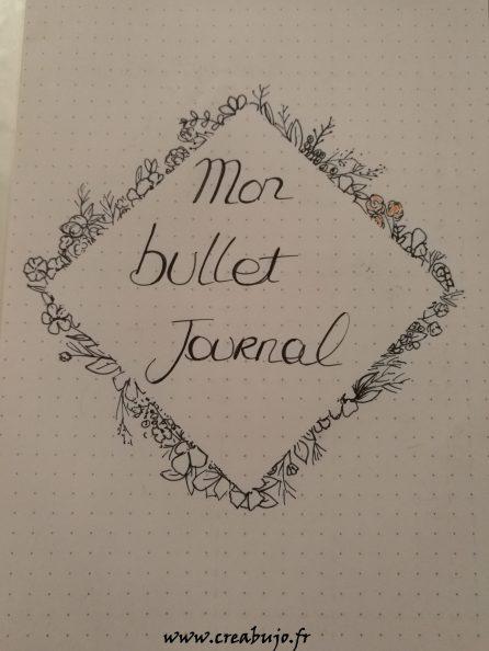 Bullet journal, idée page de garde