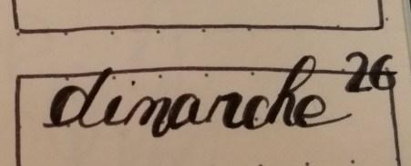 Idée calligraphie bullet journal bujo