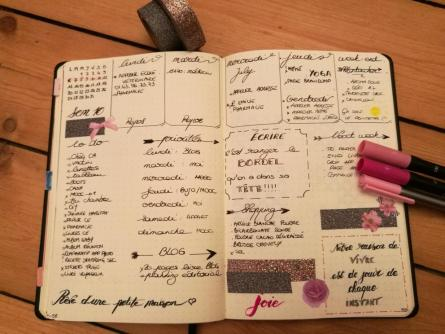 Weekly-spread-bullet-journal