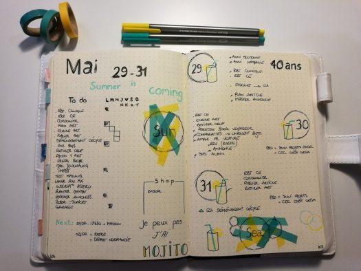 Idée - weekly - bujo