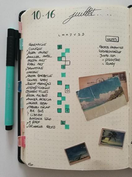 Running-list-bullet-journal