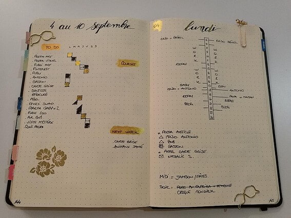 Idée-weekly-log-bullet-journal