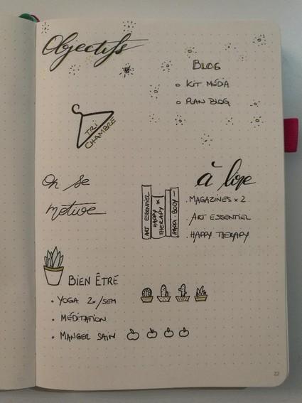 Bullet journal français - inspiration