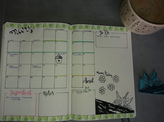 bullet journal - monthly