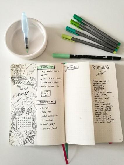 Aquarelle - bullet journal