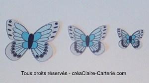 Embellissements Déco Jolis Papillons bleu pale
