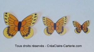 Embellissements Déco Jolis Papillons jaune orange