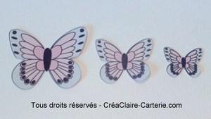 Embellissements Déco Jolis Papillons rose pale