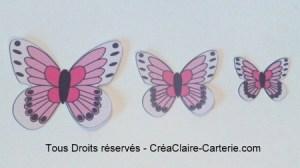 Embellissements Déco Jolis Papillons rose vif