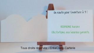 """Carte félicitation naissance illustrée """"Tous à vélo"""" - Intérieur"""
