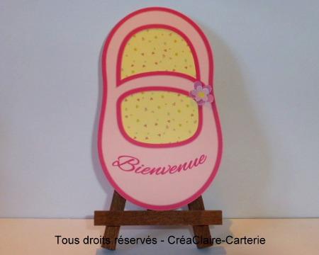 Chausson rose - ref : MOD-013