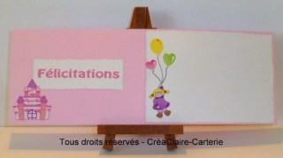 Félicitation naissance personnalisée prénom Jeux de fille-intérieur