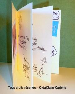 Félicitations mariage carnet personnalisé texte photo - vue ouverte