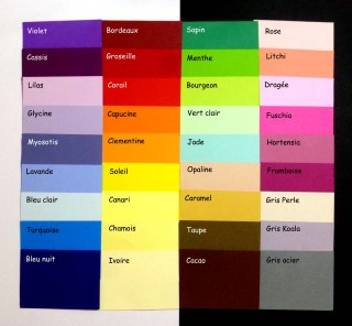 Nuancier des couleurs de papier pour vos cartes et faire-part personnalisés