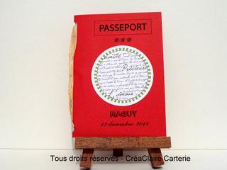 """Carte pour départ en retraite personnalisée """"passeport pour une bonne retraite"""" - Ref: MOD-021"""