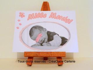 Remerciements cadeaux naissance personnalisé photo 1000 mercis-face