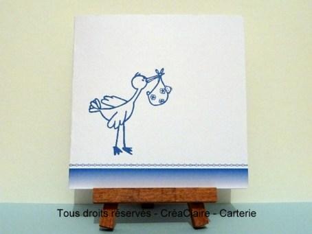Cigogne Bleue - Ref : MOD-030