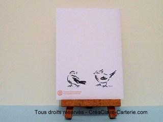 menu anniversaire 90 ans personnalisé illustré oiseaux encre - dos
