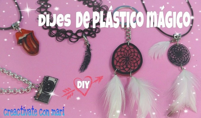 cómo hacer dijes de plástico encogible mágico reciclado