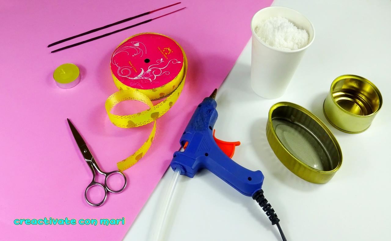 como hacer posavelas e incienso reciclando latas
