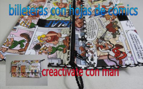 Cómo hacer monederos de cómics, diy reciclaje