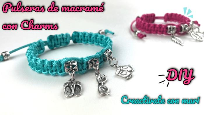 Cómo hacer pulseras de macramé con charms