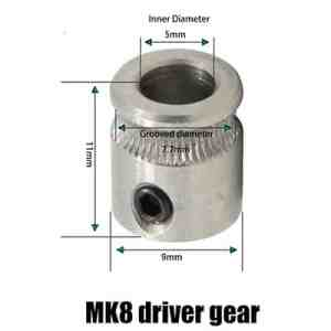 Roue Mk8 11 x 9 imprimante 3D