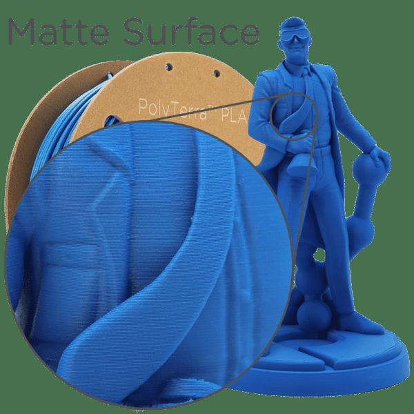 Impression filament Polymaker Polyterra Bleu