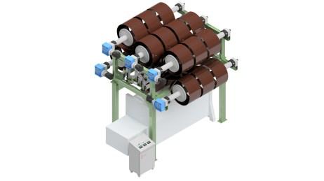 Kettbaumgestell für Wirkmaschine