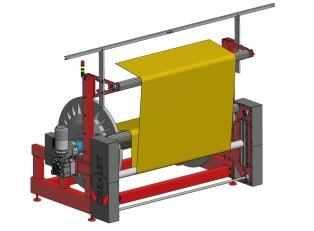 Warp-beam frame for warp knitting machines