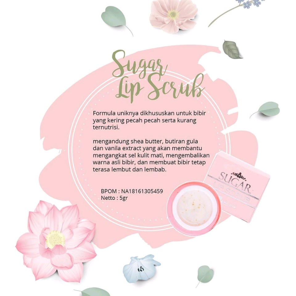 Sugar Lip Scrub Ms Glow Original