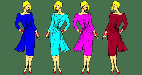 Patrones basicos para elaborar vestidos drapeados.
