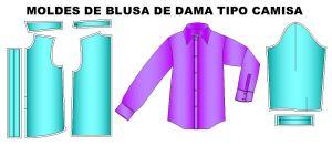 Tallaje de blusas de dama tipo camisa