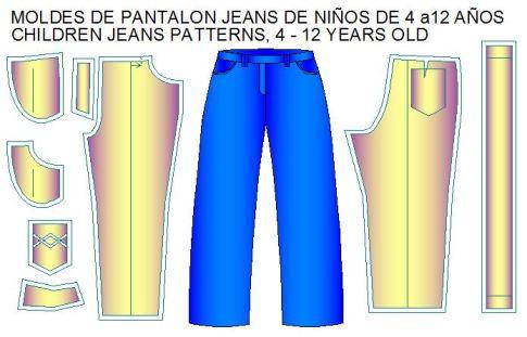 pantalon jeans ninos 4 a 12 años