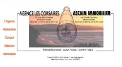 Site internet de l'agence Corsaires Immobilier à Bayonne et Ascain