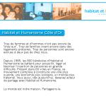 Habitat & Humanisme Côte d'Or, 1ère version du site