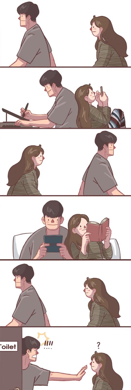 Ces illustrations adorables rendent hommage à la complicité des couples