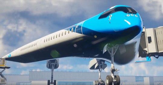 Nouvel avion Gibson flying-v
