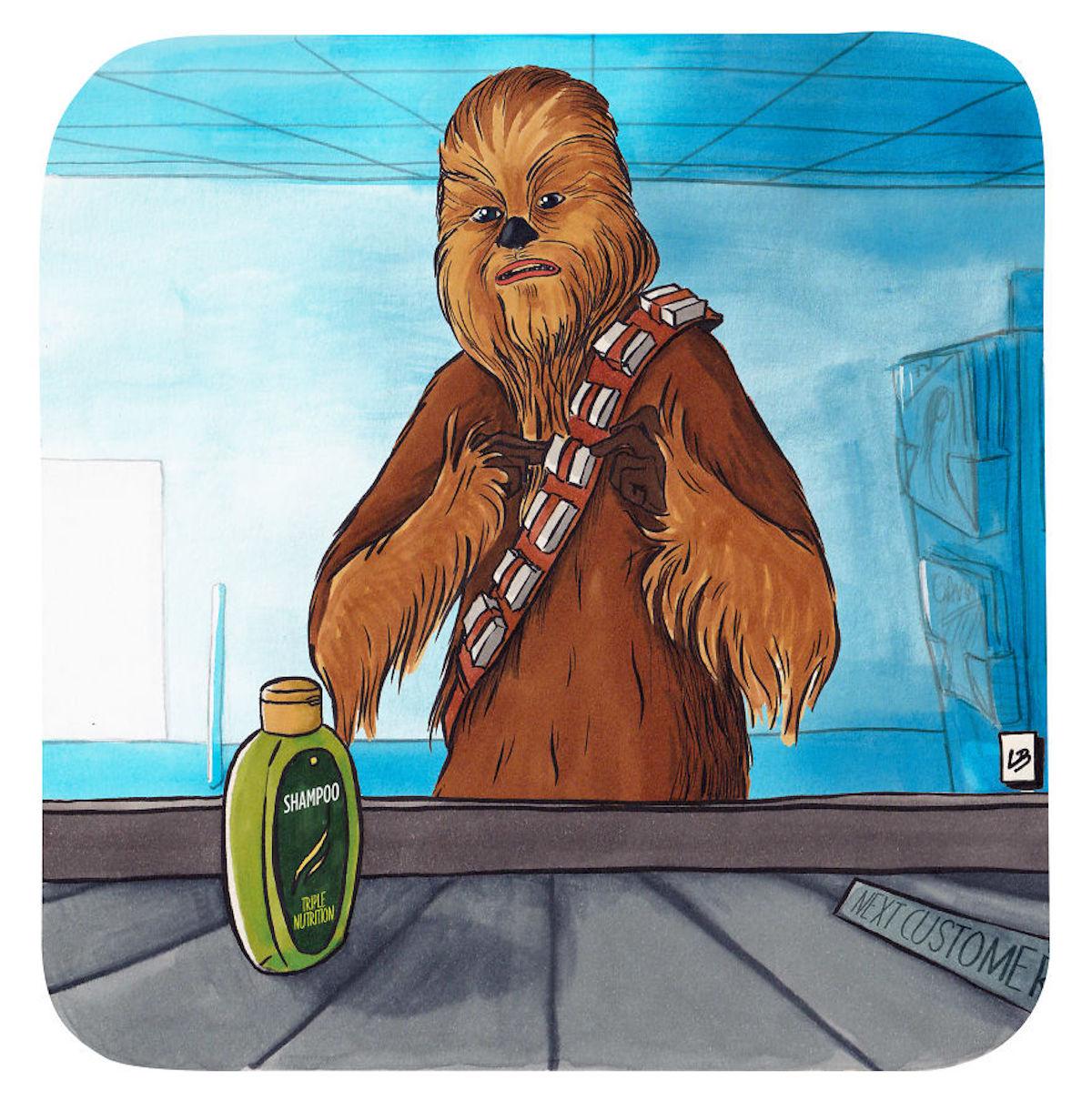 Chewbacca shampooing Linda Bouderbala