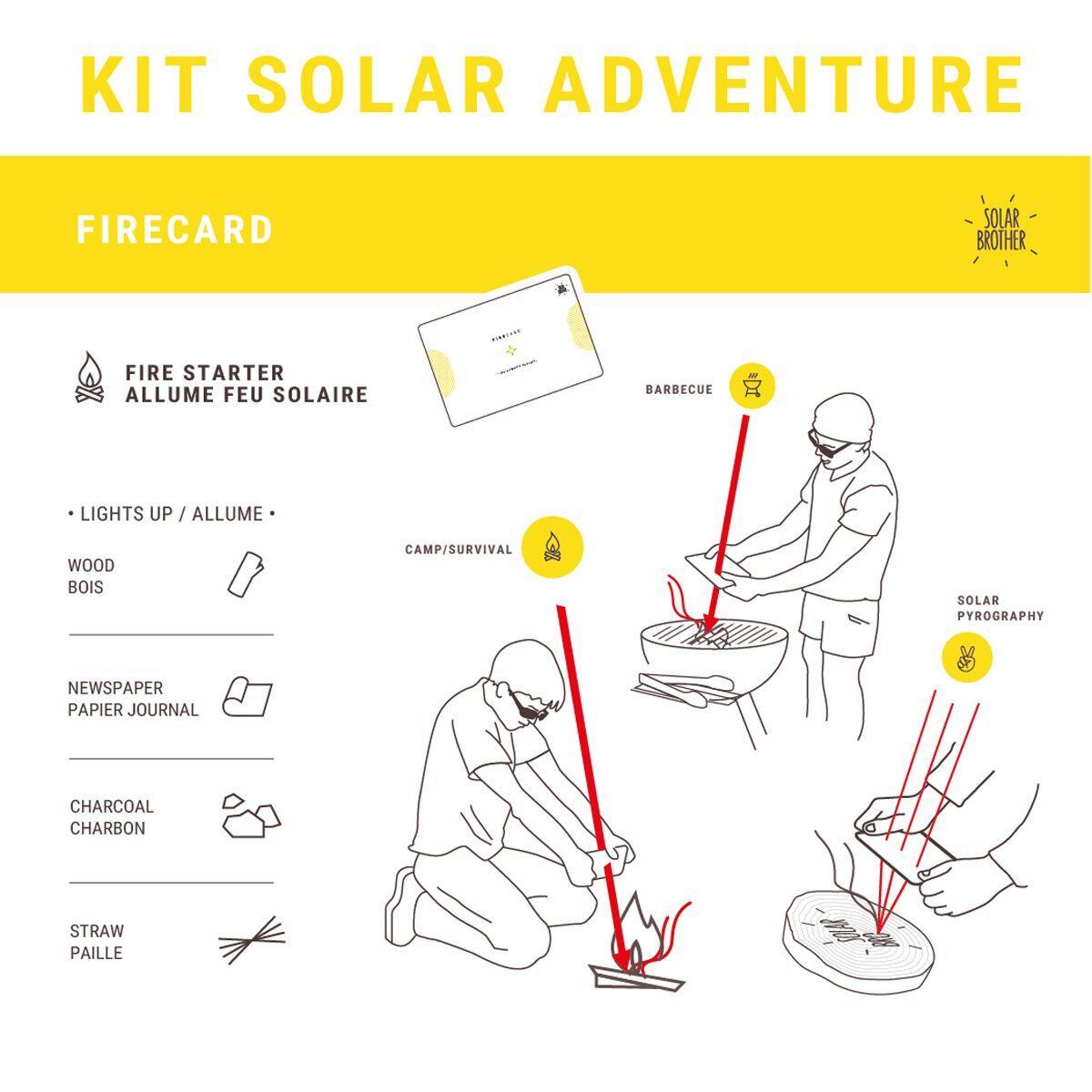 Allume-feu et pyrograveur solaire Solar Brother