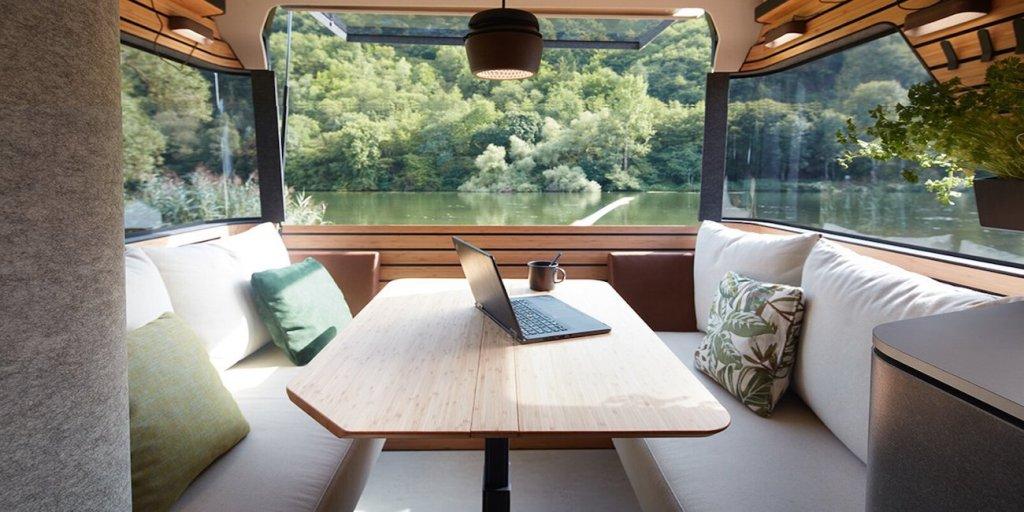 Ce camping-car futuriste intègre le confort d'un appartement pour révolutionner le camping ! By Mélanie D. Hymer-camping-car-van-luxe-10