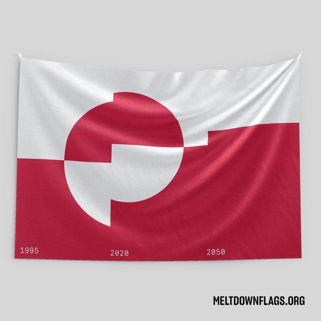 Le drapeau du Groenland selon l'évolution de la fonte des glaces