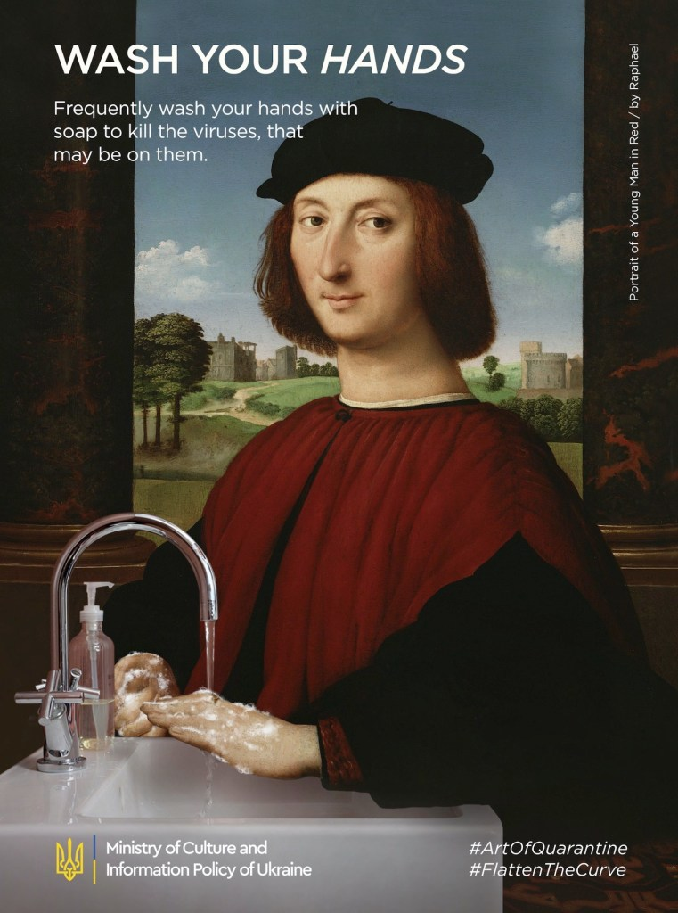 """Détournement du tableau """"Portrait de jeune homme"""" par Raphaël"""