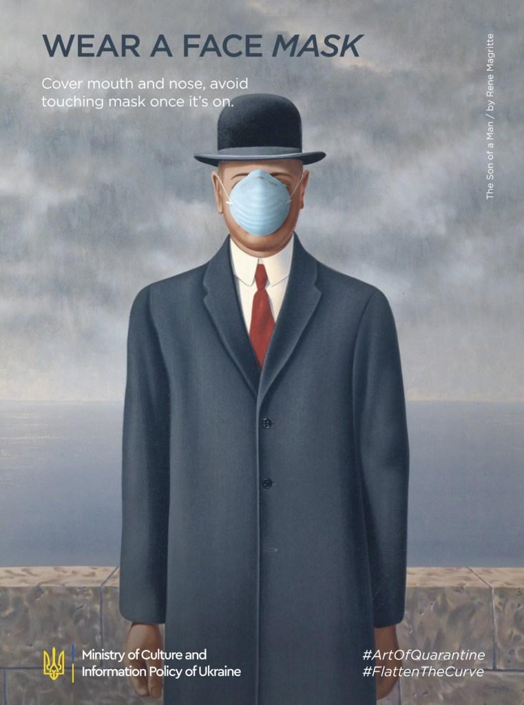 """Détournement du tableau """"Le Fils de l'homme"""" par René Magritte"""