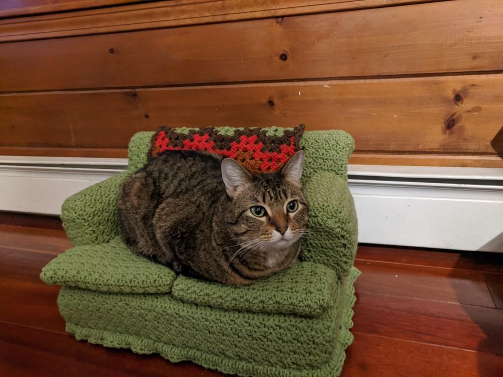 Des canapés pour chats à réaliser soi-même en crochet pendant le confinement
