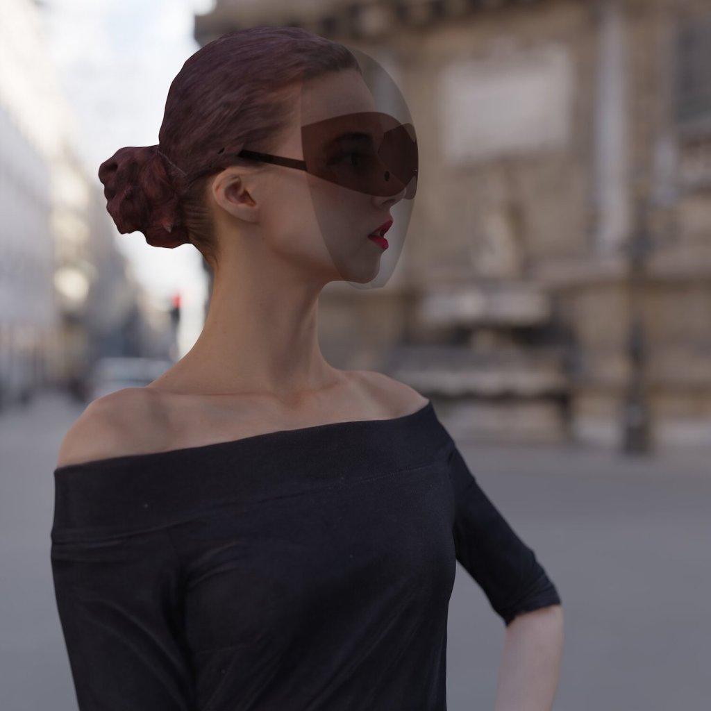 Le designer Joe Doucet dévoile un masque design qui intègre des lunettes de soleil