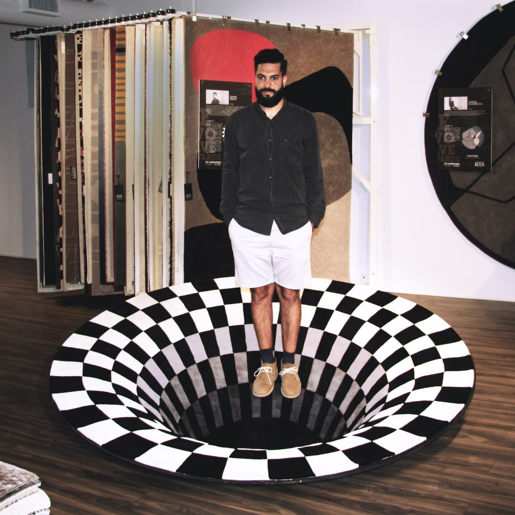 Tapis illusion d'optique par Daniel Malik
