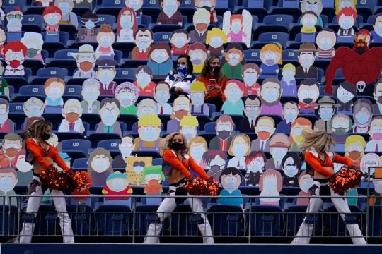 États-Unis : une tribune remplie de personnages de South Park pour simuler un public à l'écran
