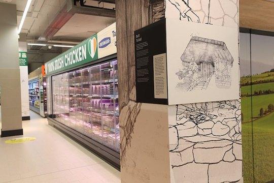 En Irlande, le sol de ce magasin Lidl dévoile les vestiges d'une maison Viking