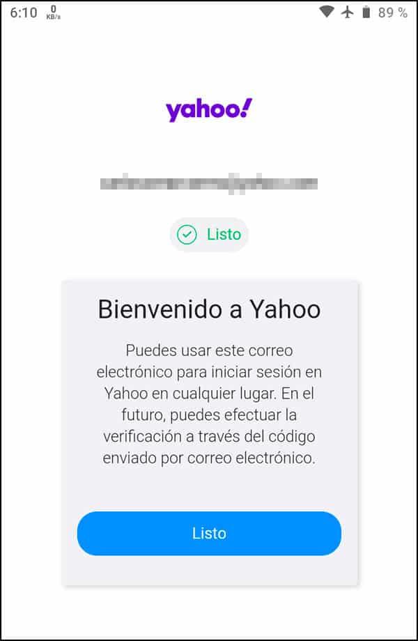 Correo nuevo Yahoo